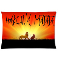 NEW Lion King Rectangle Pillow Case Decorative Pillowcases Washable Waist Pillow Cover Custom Pillow Slip