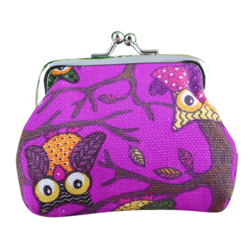 Excellent Quality New Women Lovely Style Lady Small Wallet Hasp Owl Purse Clutch Bag Canvas Material portefeuille femme Shop
