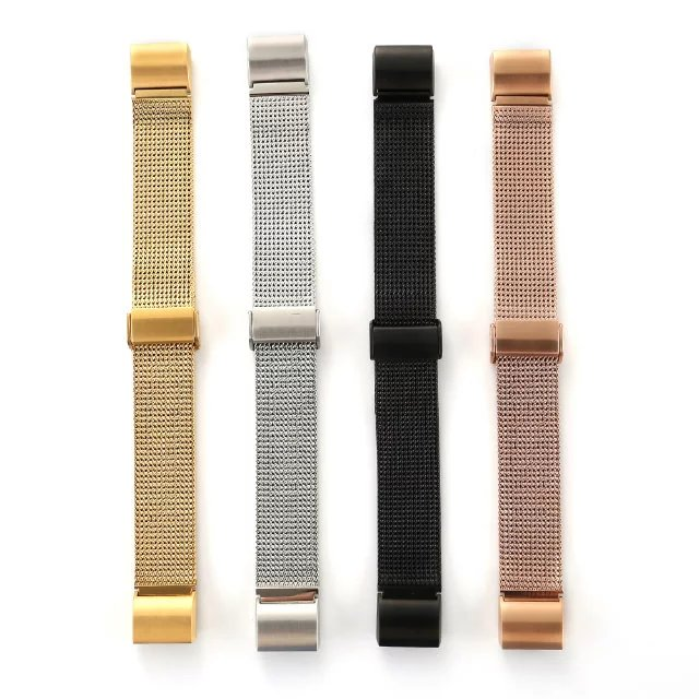 Bucată de curea de bandă din ceas din metal din ceas din oțel inoxidabil durabil și elegant, pentru încărcătură 2 Fitbit