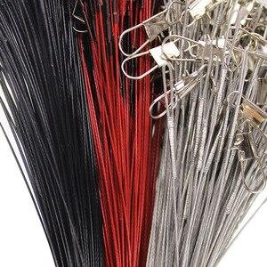20 stks/partij Vissen Staaldraad Leider Met Draaibare vislijn Rood/Zilver/Zwart Vissen Accessoire(China)