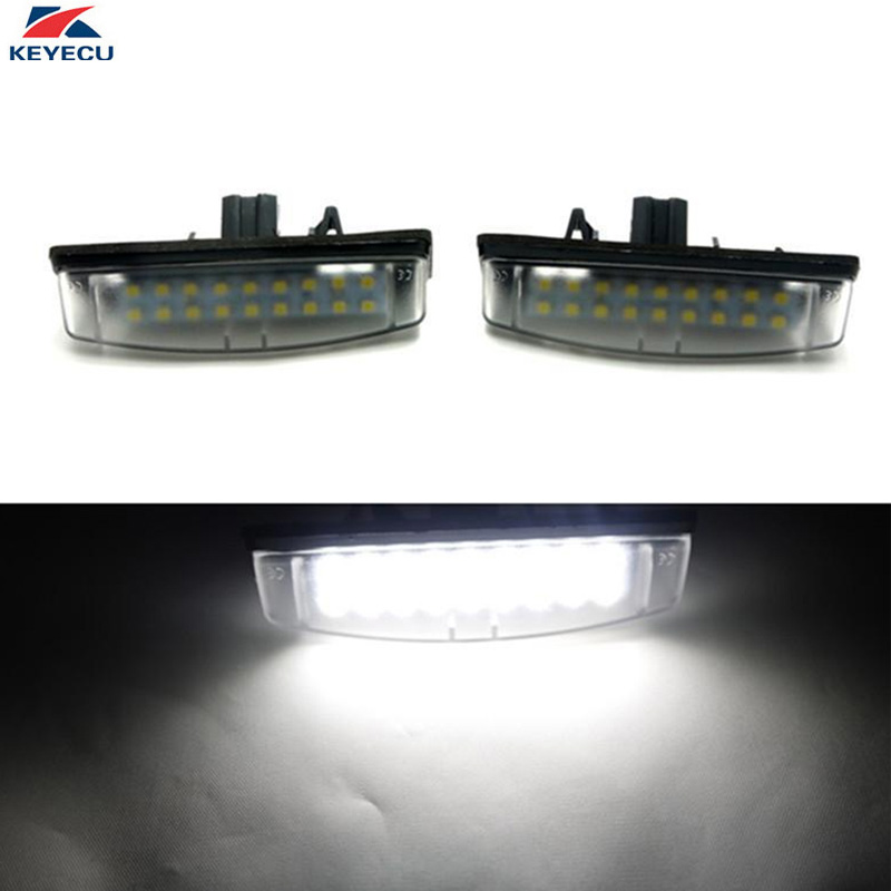 KEYECU  2 Pieces 18SMD White LED License Plate Lights for Toyota Camry Aurion Avensis Verso Echo Prius and Lexus universal pu leather car seat covers for toyota corolla camry rav4 auris prius yalis avensis suv auto accessories car sticks