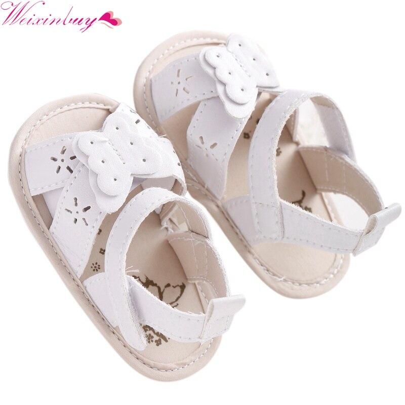 2017 Baby Girls Sandals Girl Bowtie Children PU Princess Sandals Shoes
