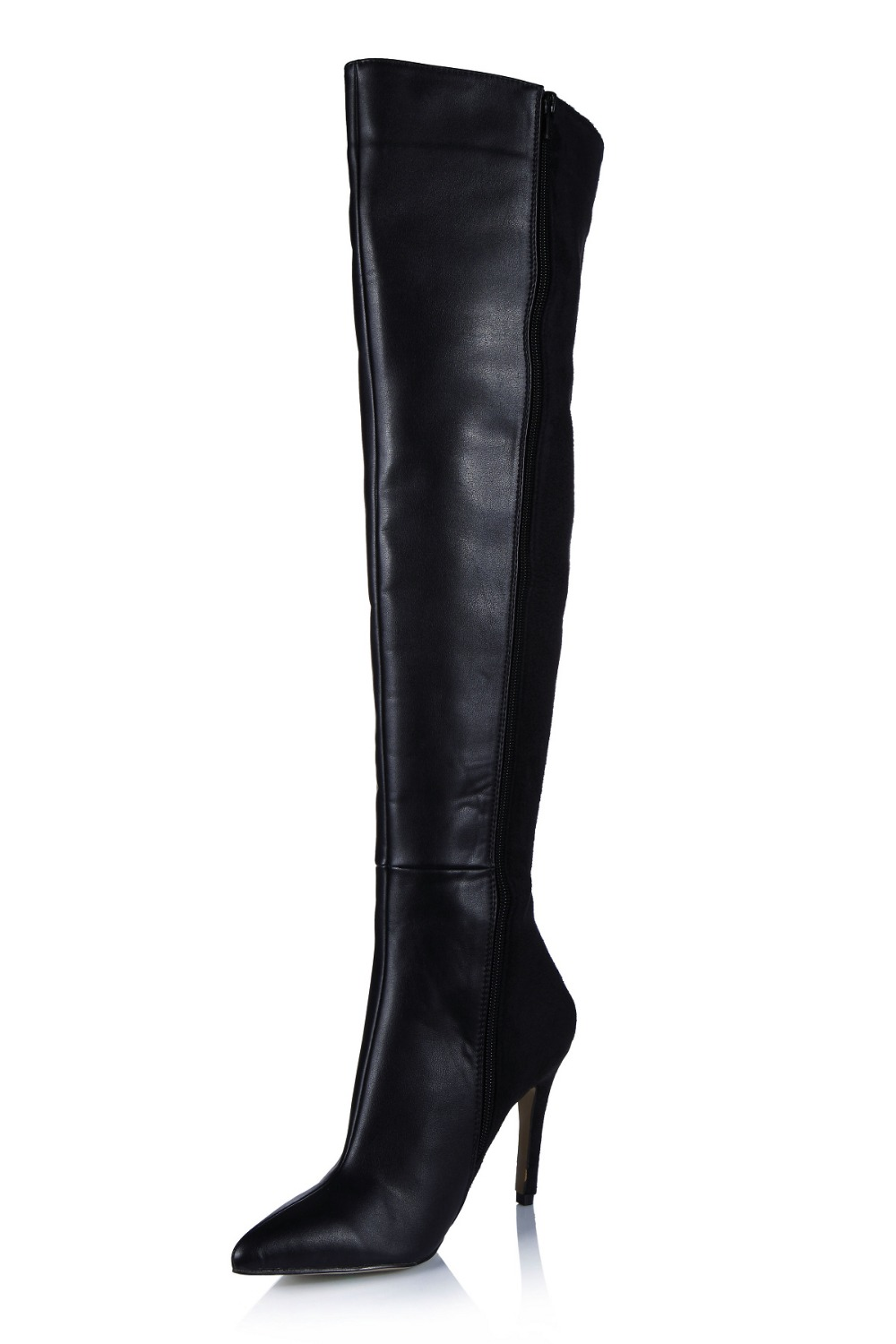 sexy pointed toe stiletto high heels thigh long boots fashion zipper over knee high boots stretch fabric women winter shoes pump hot runway sexy women boots stretch silk pointed toe stiletto high heels over the knee boots jersey thigh high boots shoes woman