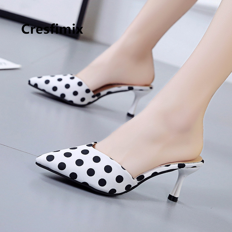 Women Fashion High Quality White Dot High Heel Shoes Lady Casual Spring & Summer High Heel Shoes Femmes Hauts Talons E5219Women Fashion High Quality White Dot High Heel Shoes Lady Casual Spring & Summer High Heel Shoes Femmes Hauts Talons E5219