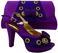 2016 Italian Shoes With Matching Bag High Quality Italy Shoe And Bag set For wedding and party purple,Free Shipping !MFC1-6