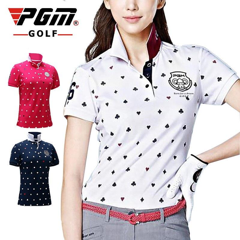 2018 nouveauté été PGM impression Golf chemises femmes golf Sportswear à manches courtes respirant élastique T-shirt taille S-XL