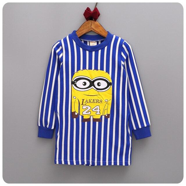 Girl Children's Garment Autumn New Pattern 2016 Girl Baby Stripe Neck T  Unlined Upper Garment Children Jacket Skirt