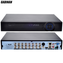 GADINAN AHD-H DVR 16CH Full HD 1080 P DVR NVR HVR/Híbrido: 8CH AHDH 1080 P + 8CH IP 1080 P Cámara IP de ONVIF P2P para AHD Kits del Sistema CCTV