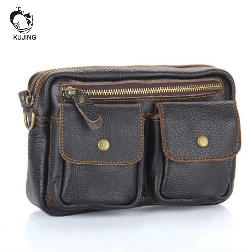 KUJING marka deri erkek çanta yüksek kaliteli multi-fonksiyonel - Çanta