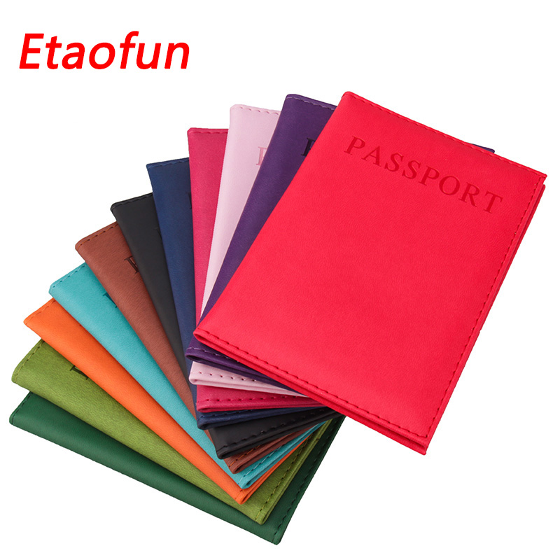 Etaofun Travel Passport Case Protector passports cover for women colorful passport holder smooth Organizer wallets for ID cards travel passport holder women girl pasport cover beautiful case for passport travel organizer passport covers for passports