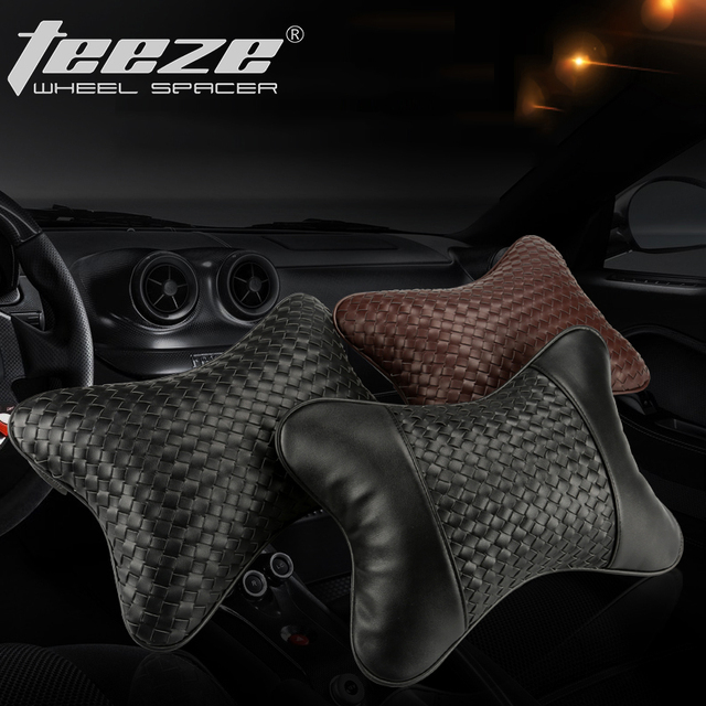 Fashion car neck pillow for Focus 2 almofada de pescoco leather cushions for car pillow headrest Gift for men and women