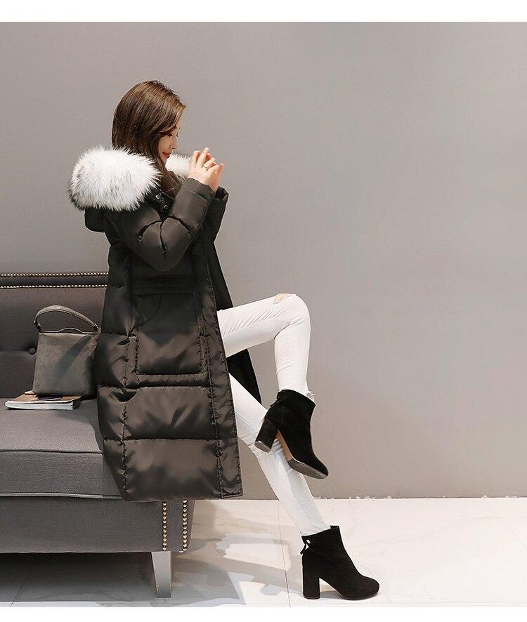Canard Mujer Manteau Chaqueta De Chaud Hiver Lx2305 Capuchon Parkas Longue Parka Veste Black 2018 Épais À Duvet Pardessus gray Femelle Automne Femmes Ayunsue UXqYT