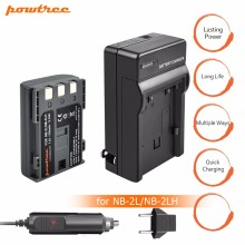 1Pcs akku NB-2L NB 2L NB2L NB-2LH  900mAh Rechargeable Li-ion Battery & Charger for CANON camera 350D 400D G7 G9 S30 S40 z1 L20