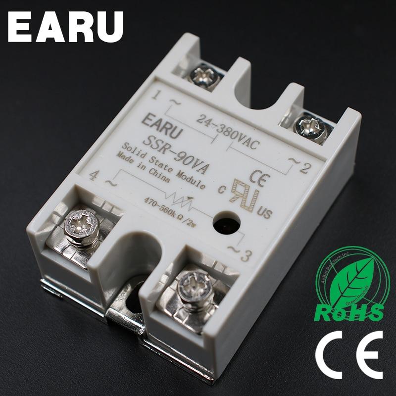 1pcs Solid State Relay Module SSR-90VA 90A 500K ohm TO 24-380V AC SSR 90VA SSR-90 VA Resistance Regulator1pcs Solid State Relay Module SSR-90VA 90A 500K ohm TO 24-380V AC SSR 90VA SSR-90 VA Resistance Regulator