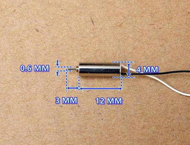 100pcs Dc 4 2v 70000rpm 12mm Micro Coreless Motor With Plastic Gear Toys
