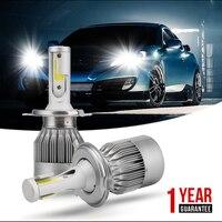 ISincer C6 Led H4 H7 H11 H1 9005 Cob Led Car Headlight Bulb Kit 80W 8000LM