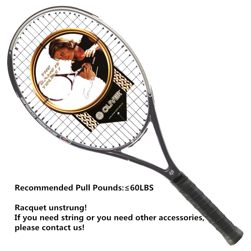 1pc High Quality Carbon Fiber Tennis Rackets Male and female Racquet Sports Tennis Accessories Oliver THUNDER Bird coffee color