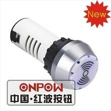 ONPOW 22 мм сигнальная лампа с зуммером, индикаторная лампа, индисветильник па (AD16-22ESSM/WB/24V) CE,RoHS