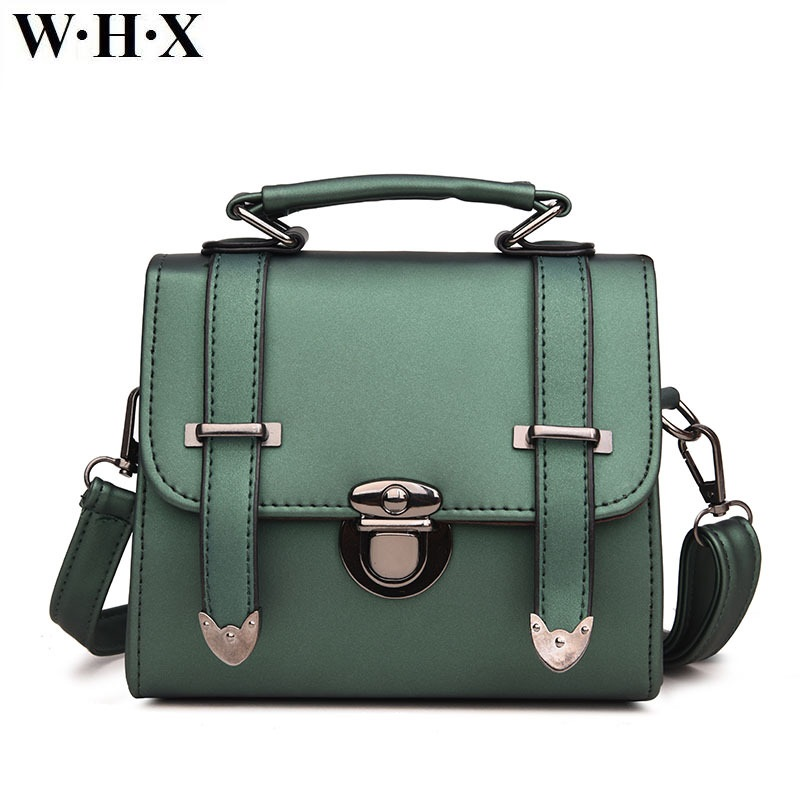 WHX Green Handbag Women Tote Bags Crossbody Bag Latest Design Fashion Casual Female Shoulder Messenger Bag Pu Leather New Style sfg house 3 piece set women vintage purses shoulder bags fashion 2017 female handbag pu leather tote messenger bag crossbody bag