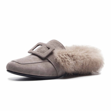 gov t mule gov t mule tel star sessions 2 lp Kmeioo Women Shoes Buckle Mule Slides Fur Mule Shoes Casual Female Shoes Winter Flats Plus Size US Size 5-15 Women Winter Flats