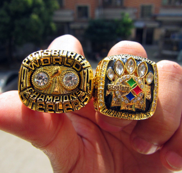 Free Shipping replica 1975 2005 Pittsburgh Steelers Super Bowl Championship  Rings together Solid high quality 6c149e61c2