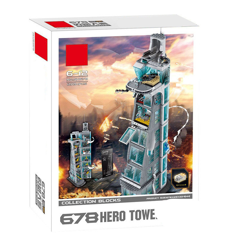 Boy Kid Gift Marvel Avenger Tower Building Block Bricks Toy  Compatible Lego