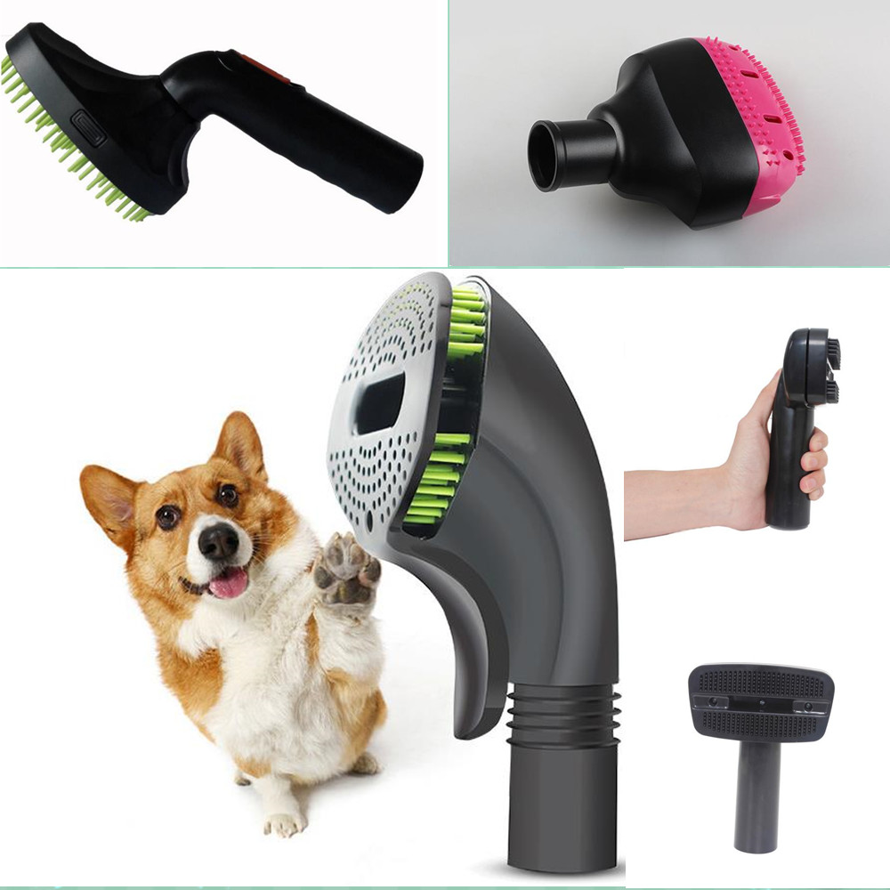 Dog cat Pet Hair removal comb nozzle brush Groom Tool + Adpter for dyson V6 V7 V8 V10 VY22 DC31 34 35 44 45 58 59 DC61 62 Parts купить