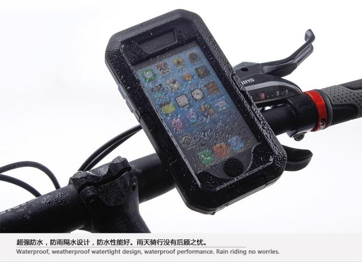For <font><b>iphone</b></font> 5 case Bike Phone Holder Waterproof Case Riding Holder Mobile Phone Bag Bike Mount Stand arm band For <font><b>iPhone</b></font> 5s SE
