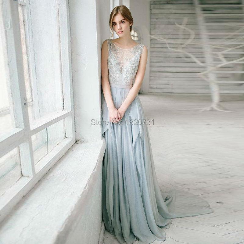 Silver Wedding Gowns: 2017 Beautiful Silver Grey Bohemian Wedding Dresses Sexy