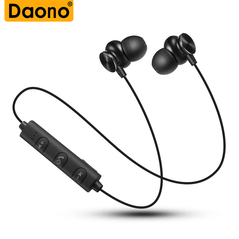 DAONO S7 Bluetooth Earphone With MIC Sweatproof Gym Sport Wireless Earphones Bass Headphones For Xiaomi iPhone MP3 Video