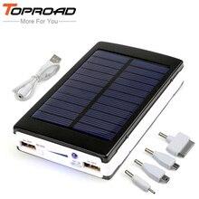 Externa portatil копирования bateria резервного силы powerbank банк солнечный dual аккумулятор