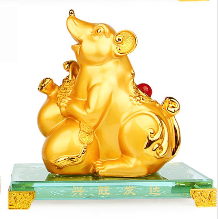 kitchen dies Rat ox tiger rabbit dragon snake furnishing gold large open housewarming fortune golden Animal