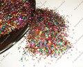50 gramos-(1 MM) 040 pulgadas Láser Colores Mezclados Deslumbrantes Diamantes Del Brillo Del Paillette Lentejuelas Forma para Uñas Decoración arte y Artesanías Brillo