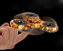 Высокая Скорость Edc Металла Палец Руки Непоседа Tri Spinner Фокус Игрушка Металла Spinner Подшипник Пластиковые Рис Анти-стресс Игрушки для Премьер-