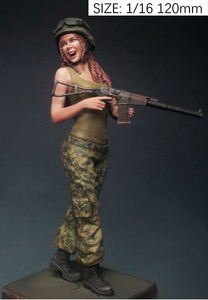 Image 1 - לא צבוע ערכת 1/16 120mm רוסית שמח ילדה 120mm דמות היסטורית שרף איור מיניאטורי ערכת מוסך