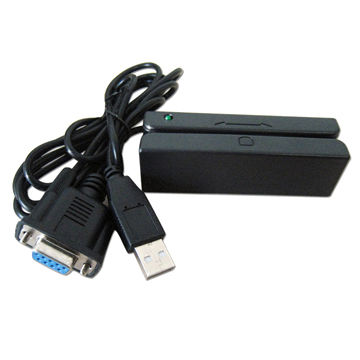 listra 3 faixas leitor de cartao magnetico msr90 interface rs232 plugue universal