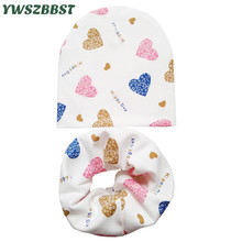 New Fashion Autumn Winter Cotton Baby Hat Scarf Boys Girls Kids Beanies