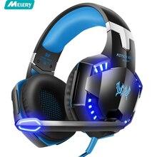 Stereo Gaming Headset Surround Sound Over-Ear Fones De Ouvido Com Cancelamento de Ruído Mic Luzes LED Para Xbox PS4 PC Laptop mac iPad
