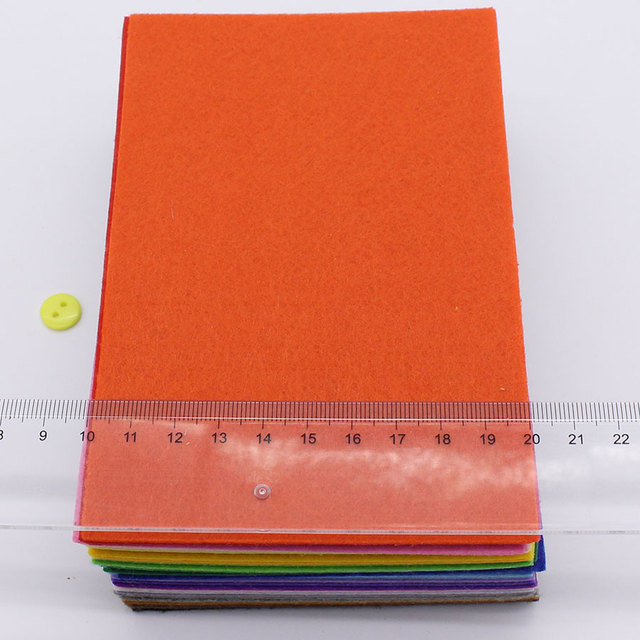 CMCYILING 40 unids/lote 10*15cm parche de Patchwork tela de poliéster de 1 MM de espesor para manualidades DIY álbum de recortes hoja de fieltro