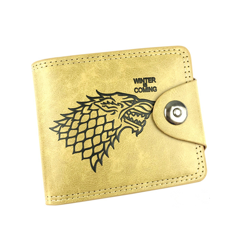 9 card holder wallet with cion zipper pocket game of throne stark man wallets Assassins Creed men purse