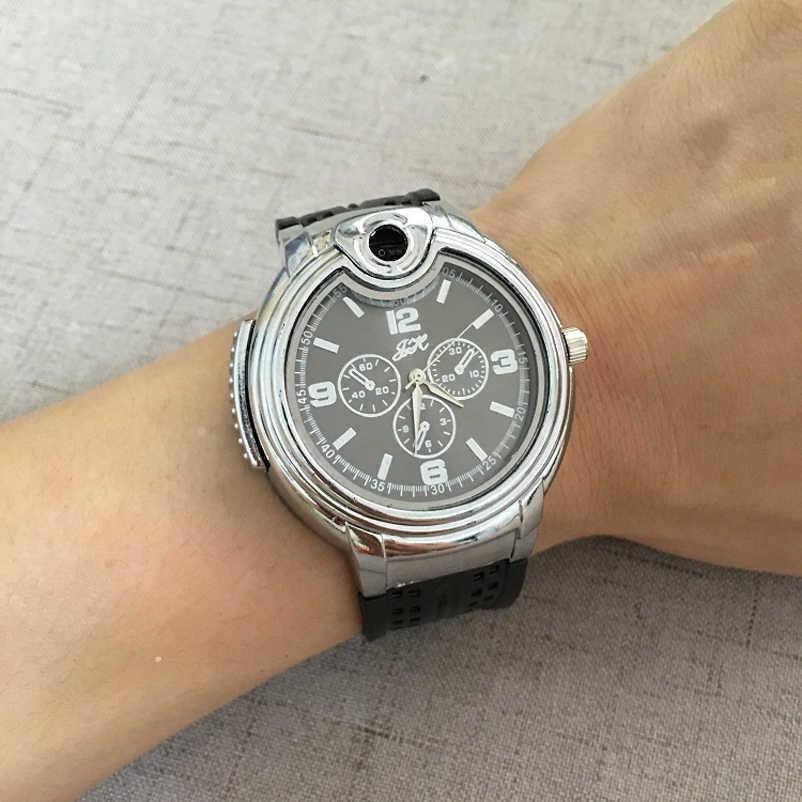 ファッション男性のクォーツ腕時計ライター創造的軍事腕時計男性時計瞬間腕時計ビートギフト