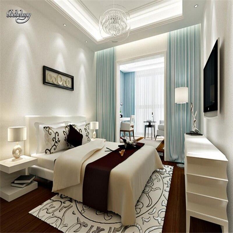 Online Shop Beibehang Vliesstoffe Reine Farbe Uni Tapete Wohnzimmer  Schlafzimmer Schlamm Wand Textur Bump Papier Beige