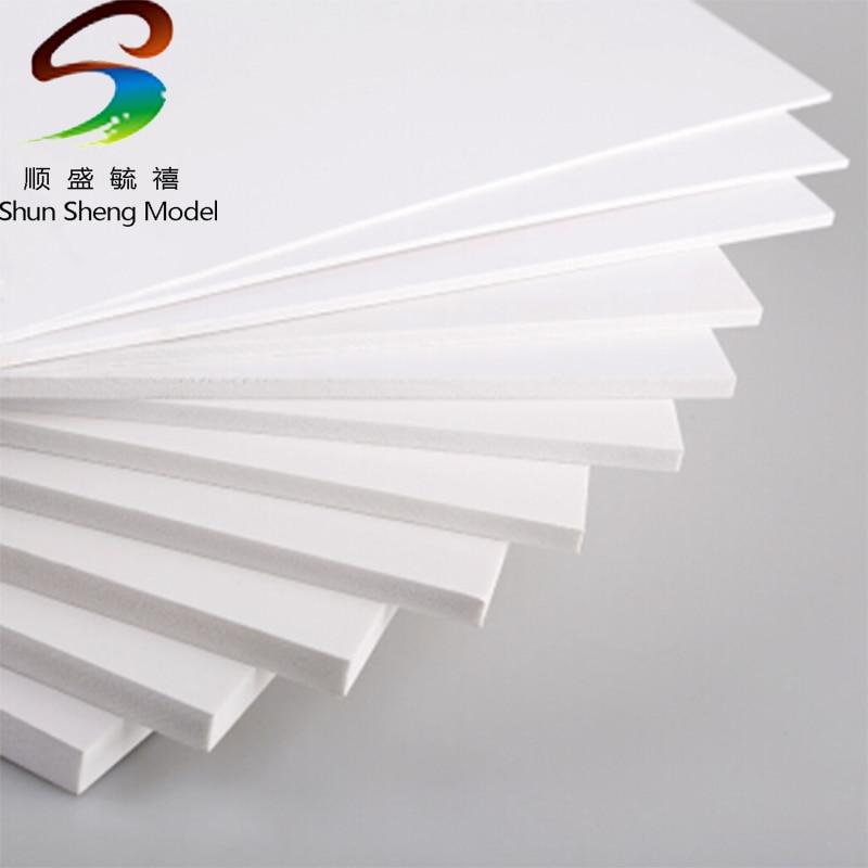 300x200mm With  2mm 3mm 5mm 8mm Thickness PVC Foam Board Plastic Flat Sheet Board Model Plate