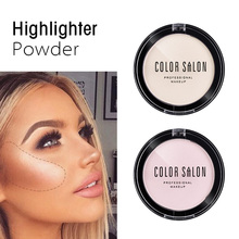 1PCS Highlighter Press Powder Waterproof Glitter Highlight Face Make Up Long-lasting Professional Brighten Powder Makeup Light