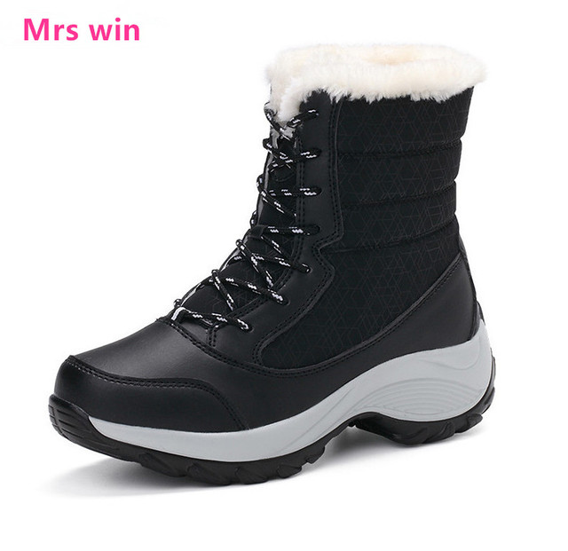 Ski Boots Sale >> Us 26 01 25 Off Hot Sale Winter Outdoor Sports Shoes Snow Boots Sneakers Women Waterproof Non Slip Ski Boots Ski Boots Zapatillas Mujer In Running