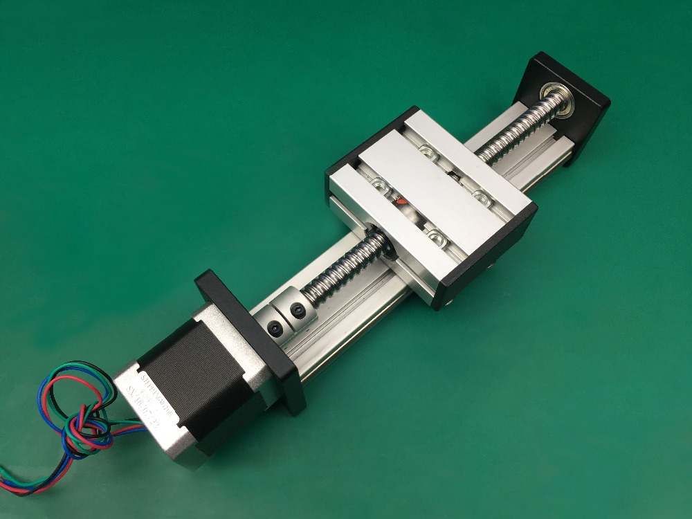 SG Ballscrew 1610 400mm rail Travel Linear Guide + 57 Nema 23 Stepper Motor CNC Stage Linear Motion Moulde Linear toothed belt drive motorized stepper motor precision guide rail manufacturer guideway