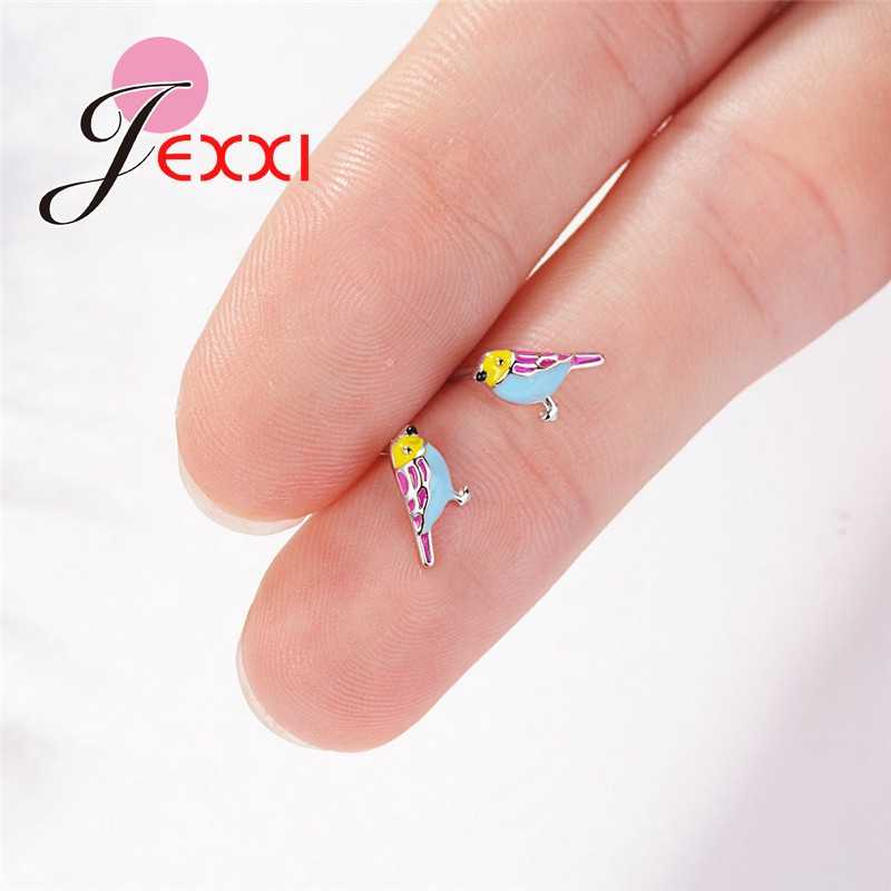 Vogue New Arrival Cute Animal Bird Design 925 Sterling Silver Stud Earring For Sweet Woman Girls Favorite Banquet Accessories