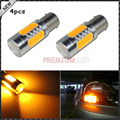 4pcs High Power 7.5W Amber Yellow 1157 S25 COB Projector LED Replacement Bulbs For Car Front or Rear Turn Signal Lights