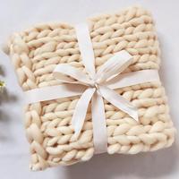 55*55 cm Chunky Knit Baby Dekens Pasgeboren Fotografie Props  Handgemaakte Baby Foto Deken Mand Stuffer  # P1015|Deken & Inbakeren|Moeder & Kinderen -