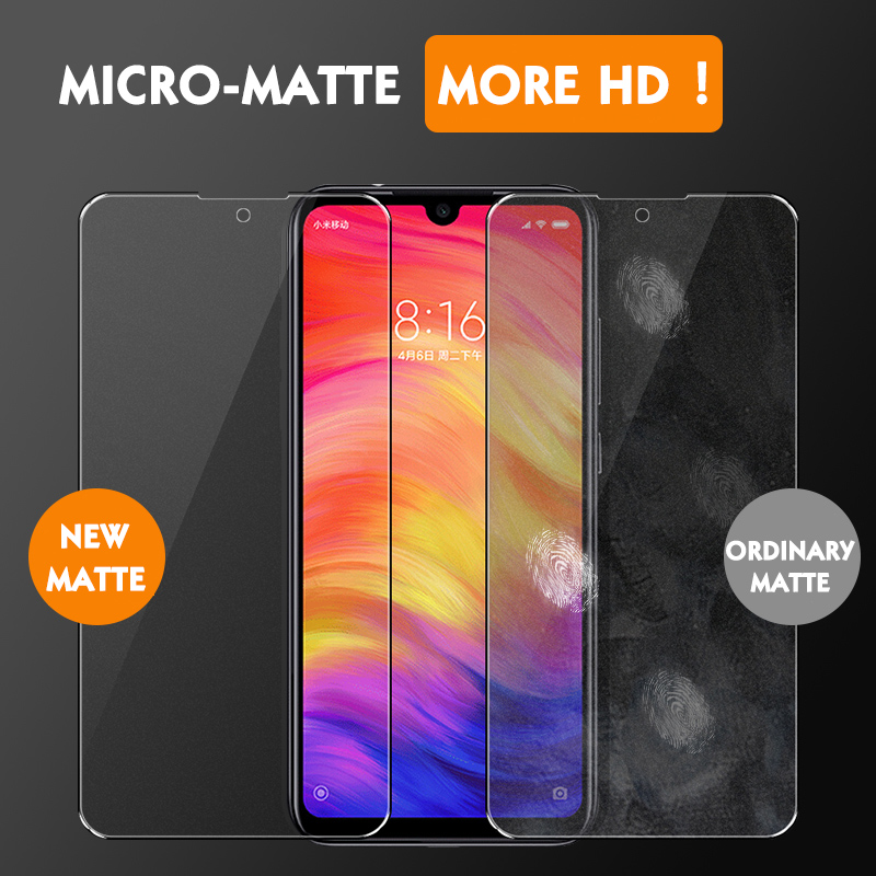 Image 5 - 2PCS Matte Tempered Glass For Xiaomi Redmi Note 7 6 Pro Screen Protector for Xiaomi Redmi note7 pro Protective Glass For Redmi 7-in Phone Screen Protectors from Cellphones & Telecommunications